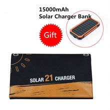 Willone 21W solar charger bag outdoor  Solar Charger Portable Solar Battery Chargers Charging for Phone for Hiking