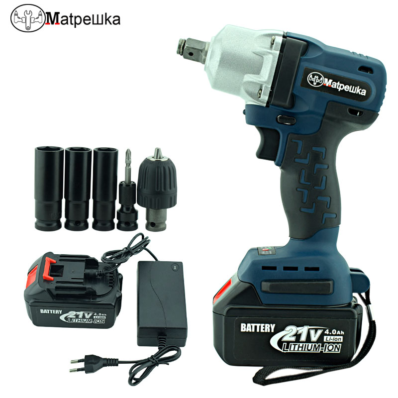 Matpewka DIY home 21V lithium battery maximum torque 280N.m 4.0Ah cordless electric wrench cordless drill tool drill buddy cordless dust collector with laser level and bubble vial diy tool new