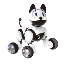 Electronic Family Pet - Interactive Intelligent Puppy Dog/ Kitty Cat Funny Voice Recognition Robot Toy For Kids(China)