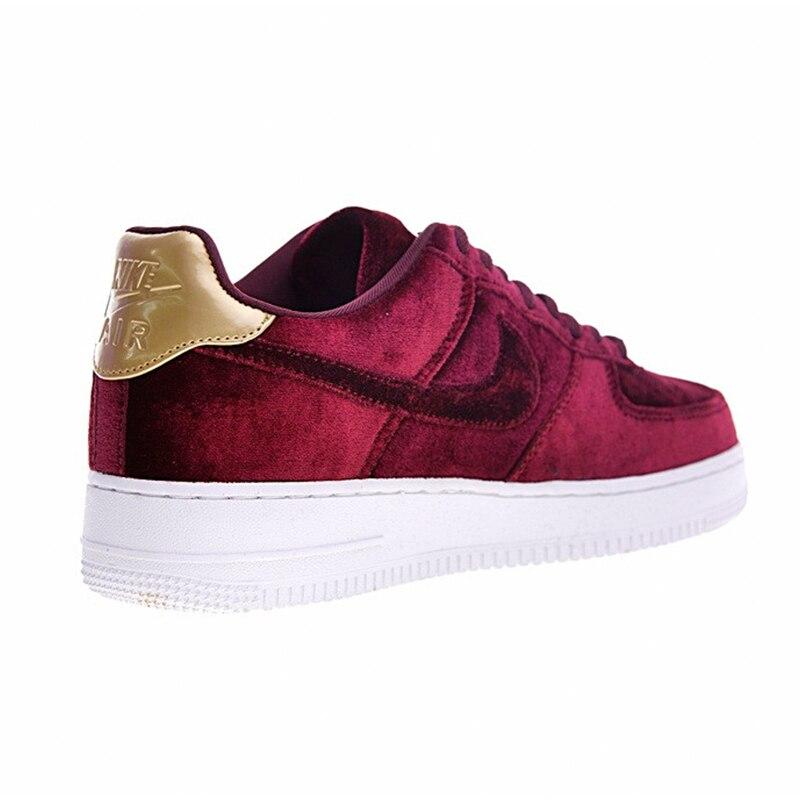 low priced 8d1c7 2145d ... new zealand aliexpress buy nike air force 1 velvet af women skateboard  shoes velvet wine red