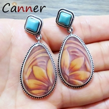 CANNER Ethnic Geometric Earrings Big Sunflower Dangle/Drop for Women Boho pendientes mujer moda 2019 FI