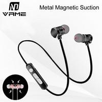 Bluetooth наушники супер бас спортивные наушники металлические магнитные всасывания стерео наушники с микрофоном hands free для iphone 7 6