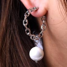 цена на New Fashion Earrings For Women Alloy Shell Pearls Drop  Earrings Women Wedding Party Jewelry ZA Earrings 2019 Gold Silver Pearl