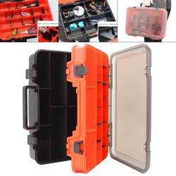 39cmx28cmx12cm Multifunction Double Sided Thicken Portable Large Fishing Tackle Boxes Fishing Reel Line Lure Tool Storage Box