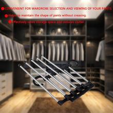 1 шт. Портативный ручной складной шкаф Органайзер брюки галстуки шарф стойка для платков вешалка для Экономия пространства