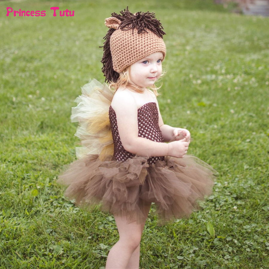 Brown Horse Tutu Dress Cute Animal Pony Tulle Girls Dress Kids Halloween Costume for Girls Birthday Party Dress Children Clothes