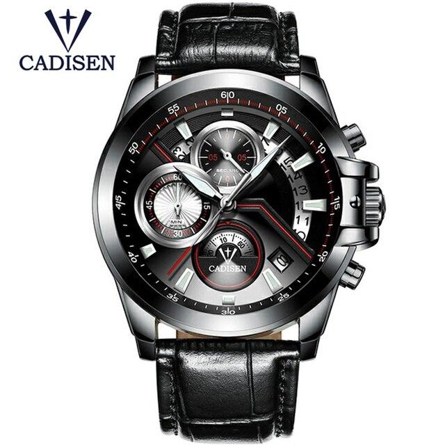 CADISEN Top Brand Fashion Men s font b Watches b font Casual Pilot Military Sport Quartz