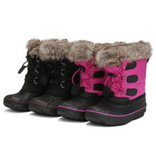 Sweet and lovely tassel children snow boots thick super soft warm comfortable elastic band winter womens shoes