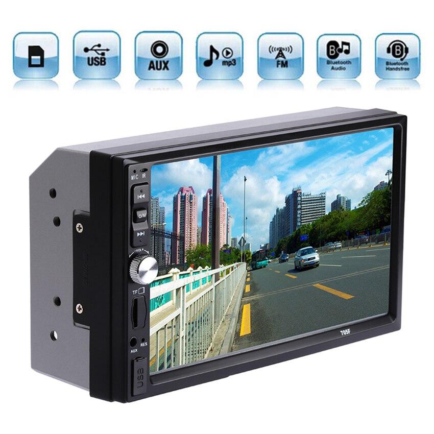 """imágenes para 2DIN Coche Audio Bluetooth 7 """"HD Radio de la pantalla Táctil En El Tablero de Pantalla Estéreo apoyo MP5 MP3 Player USB TF AUX"""