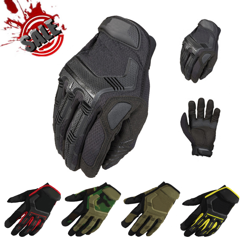 New Brand Wear M-Pact Military Tactical Army Combat Shooting Outdoor Sports Bicycle Workout Airsoft Paintball Full Finger Gloves