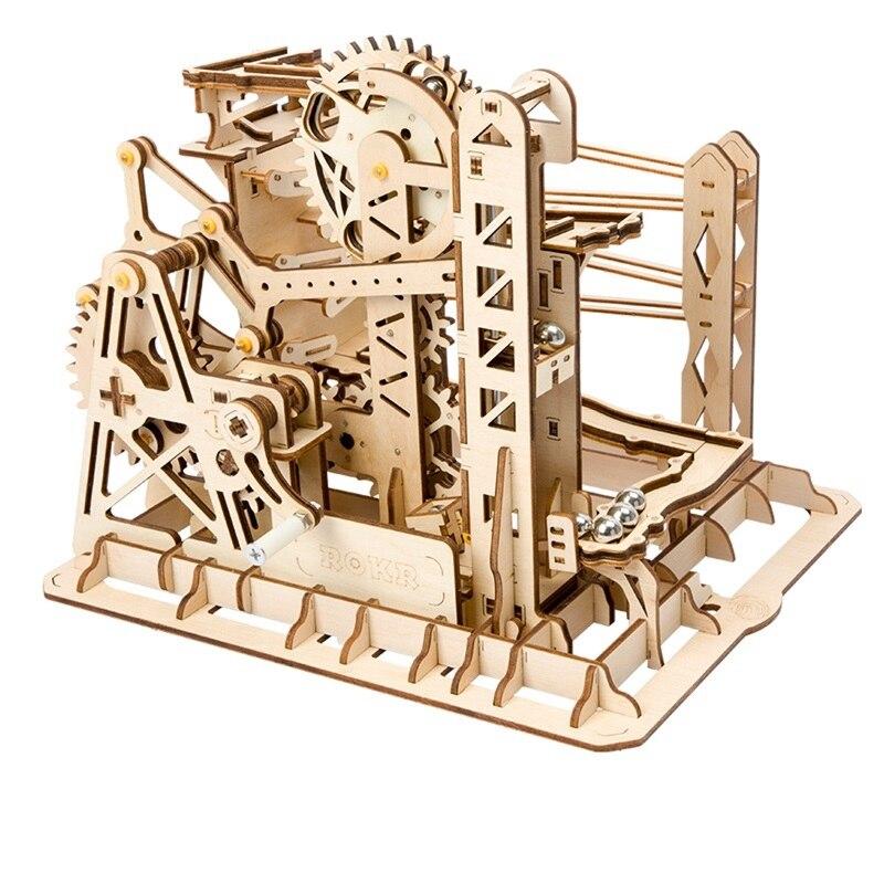 Robotime Complementi Arredo Casa Figurine FAI DA TE In Legno In Miniatura Ascensore Coaster Marble Run Gioco Della Decorazione di Accessori Regalo per L'amico Adolescenti LG503