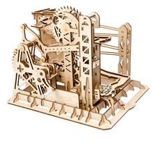 Robotime Home Decor Figurine DIY Wooden Miniature Lift Coaster Marble Run Game Decoration Accessory Gift for Friend Teens LG503