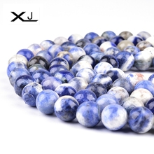 Natural Stone Blue Lines Stone Spacer Beads 38cm a Strand 4 6 8 10 12mm Pick Size Beads For Jewelry Making DIY Bracelet 8 9mm freefom chrysoprase stone beads natural gem stone beads diy spacer beads for jewelry making strand 15 free shipping