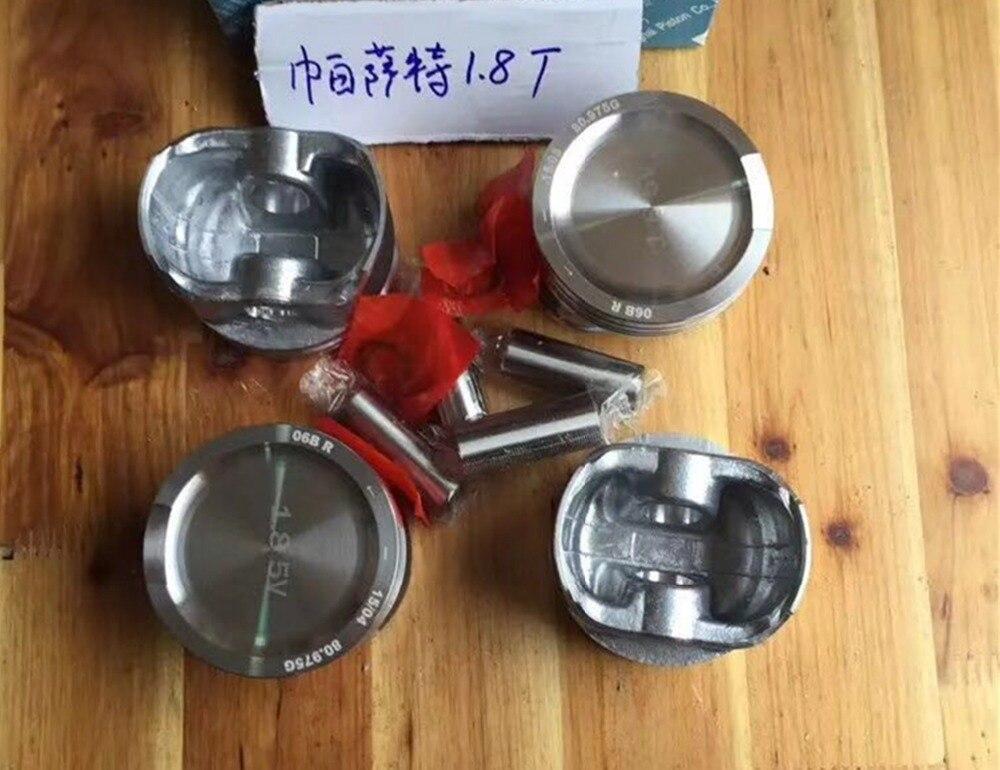 Free DHL 4pcs Genuine OEM Piston & Ring Set For AUDI A3 A4 TT VW Beetle Golf GTI Jetta Passat 1.8T 06B107065 06B 107 065 цена