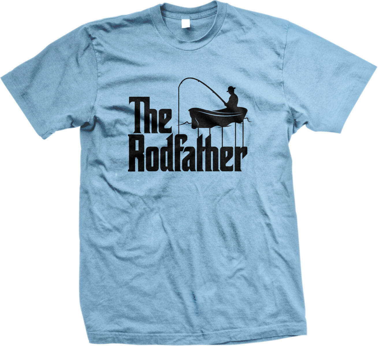 The Rodfather Fish Title Joke Boat Rod Reel Catch Hook Tackle Am Mens T-Shirt ...