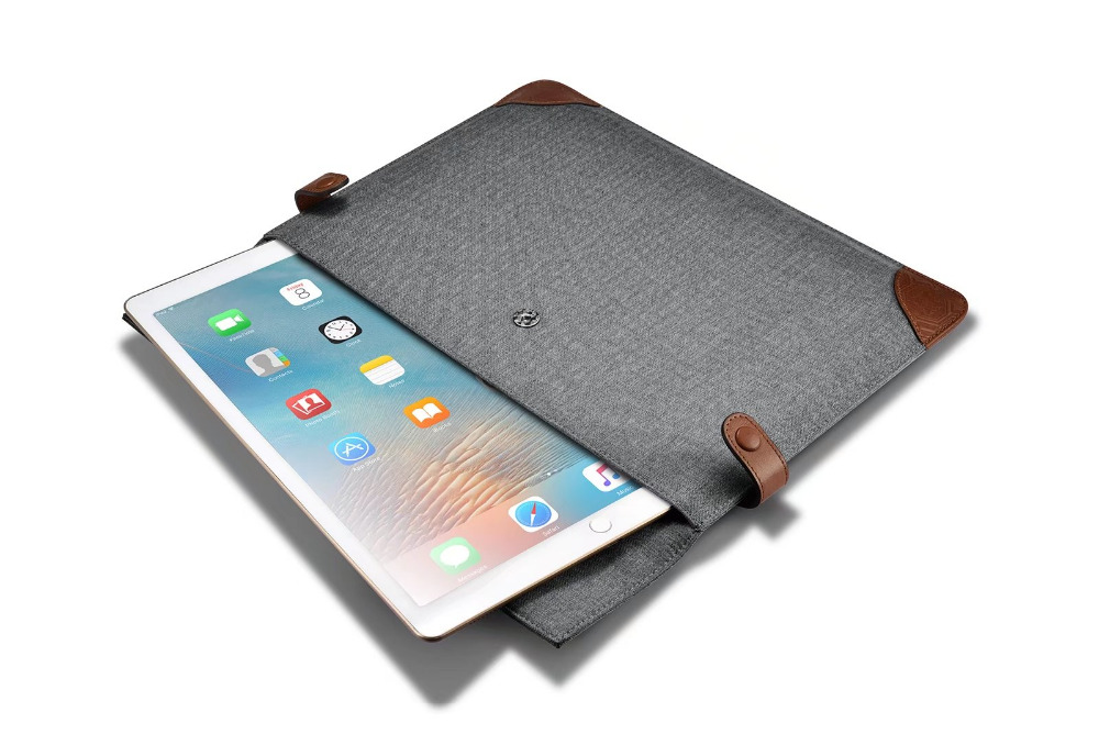 (1PC) icarer brand high quality sleeve case For Apple iPad pro 12.9 inch Case sleeve pouch business protector bags grey color icarer brand new for ipad pro 9 7 inch case sleeve grey protective carrying bag pouch for ipad pro 9 7 inch case cover fundas
