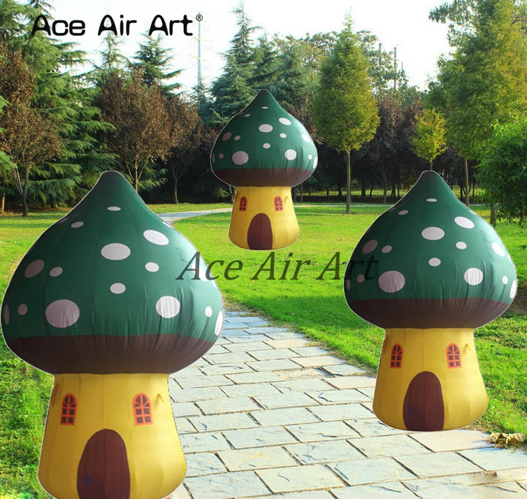 giant inflatable advertising mushroom house replica for children party decoration rental