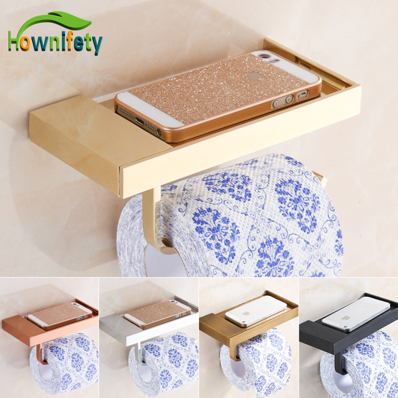 Solid Brass Bathroom Toilet Paper Holder Lavatory Roll Paper Tissue Rack with Phone Holder reccagni angelo подвесная люстра reccagni angelo l 4660 3