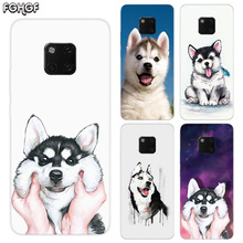 Cute Husky TPU Silicone Phone Back Cases For Huawei Mate 20X 20 10 9 Pro 8 7 Shell Hull Heart Bumper Cover