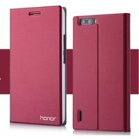 7 צבעי מותג חדש flip עור case עבור huawei honor 6 שקיות כיס טלפון נייד יוקרה כיסוי מעמד בעל כרטיס עבור huawei Honor6