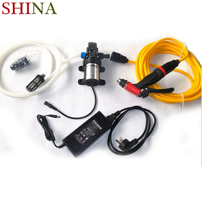 Hot Sale Portable 80W 130PSI High Pressure Car Home Garden Electric Washer Wash Pump 12V For Washing Your Home недорого