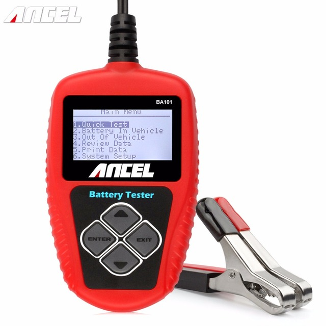 Ancel BA101 Car Battery Tester 12V Digital Analyzer 2000CCA 220AH with Japanese Korea Multi Languages BAD Cell Test Car Tools
