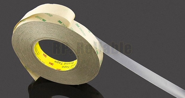 1x New 10mm*55M*0.13mm 3M 9495MP 200MP Adhesive Clear PET Double Sided Sticky Tape for LED Strip, Waterproof, Hi-Temp Resist 1x 160mm 55m 3m 9495le 300lse super strong sticky double sided adhesive tape waterproof high temp withstand industrial bond