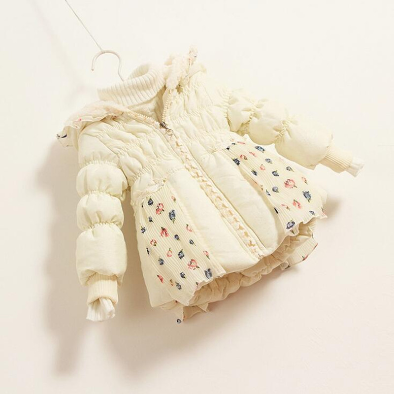 Nye Smukke Børn Piger Vintercoat Print Små Polka Dot Duck Down - Børnetøj - Foto 4