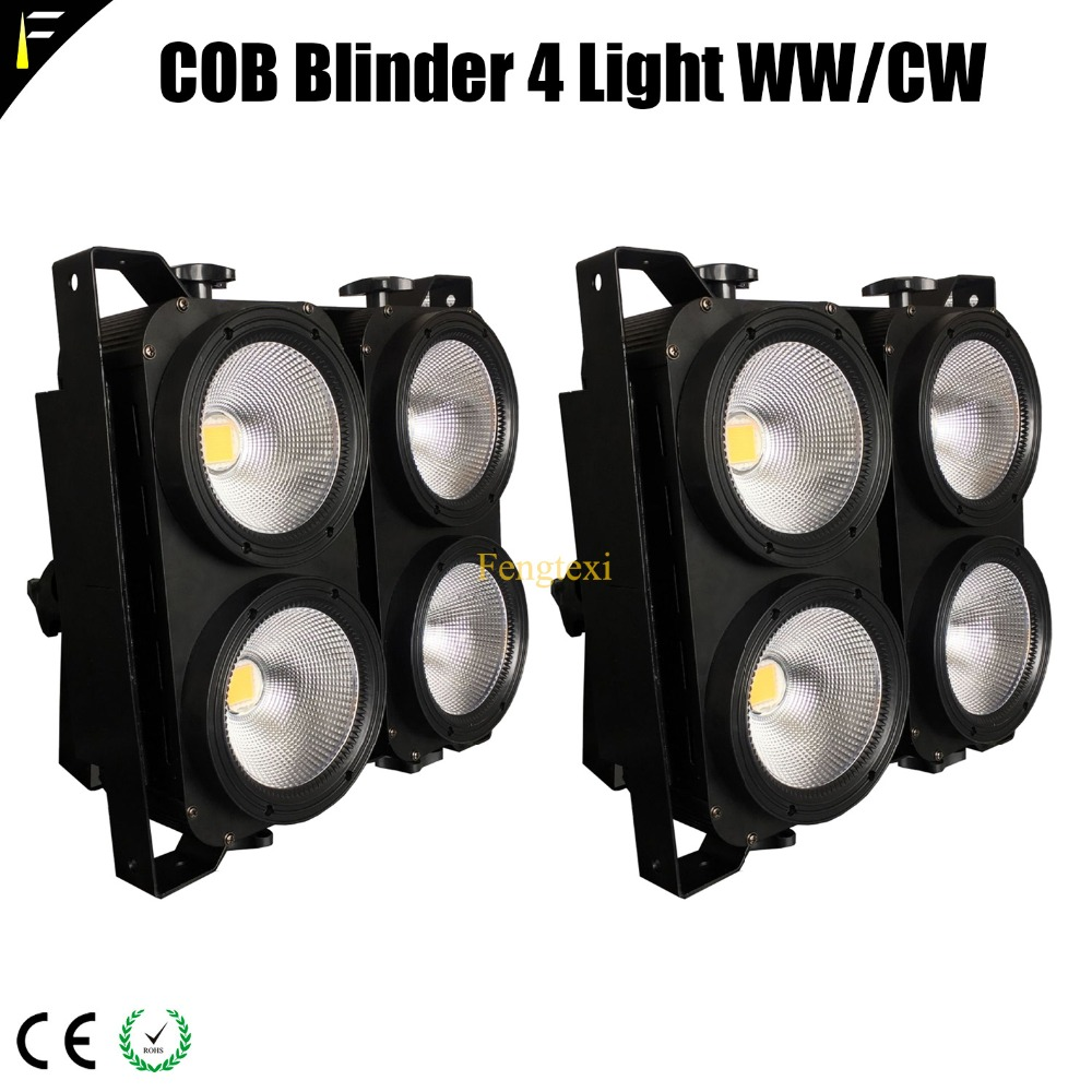 LED COB X 4 WW/CW Warm/Cold 3200k/5600k 2in1 Splice 4-Light Blinder Backdrop Light For Stage/Theater Background Lighting