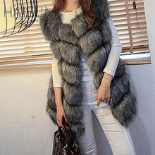 Haisum Coat Women Faux Fox Fur Vest Brand Shitsuke Fuorrure Femme Fur Vests Fashion Luxury Peel Women's Jacket Gilet Vest HN88