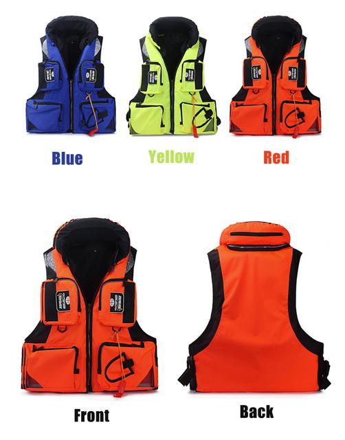Fishing Vest Adjustable Mesh Mutil-Pocket Outdoor Sport Life Safety Jacket Swimming