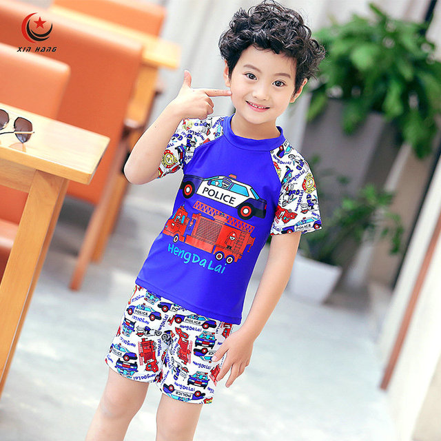 82756ca84e Aliexpress Com Boys Two Piece Swimsuit Uv Protection Shorts. Kids Boys Girls  ...