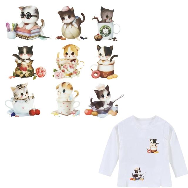 Colife гладить на Нашивки 9 прекрасный небольшой Товары для кошек в один накладной уровня моющиеся DIY аксессуар футболка Платья для женщин аппликации