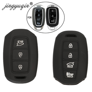 jingyuqin Silicone Car Remote Key Fob Case Cover For Hyundai i30 i35 i40 Azera Elantra Solaris Grandeur Ig Accent Santa Fe 2018-