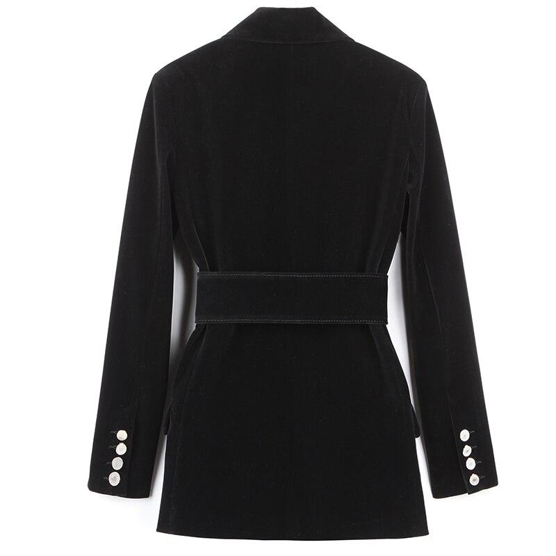 Taille Feminino Femmes Nouveau De Solide Manteaux Bombardier Vestes Couleur Et Revers 2019 Printemps 2018 Mince Jaquetas Réel Ceintures Noir Casaco 7y6bgYfv