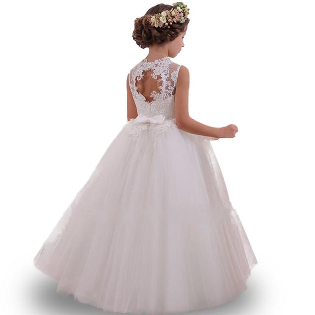 Derniers styles haute qualité Filles robe Enfant fille mariage fleur fille robe de soirée Élégante anniversaire protagoniste princesse robe