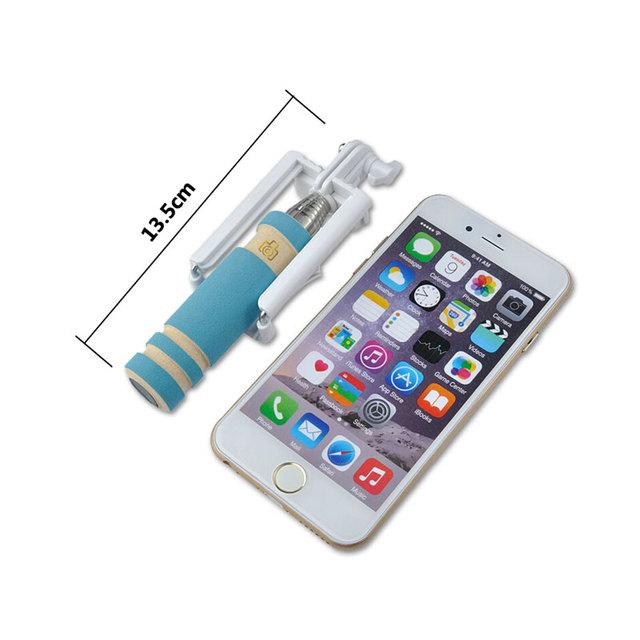 2017 New Universal Mini Wired Selfie Stick for iPhone 5S 6 6S Huawei P8 P9 lite Xiaomi Samsung Galaxy J3 J5 A3 A5 S6 LG Monopod