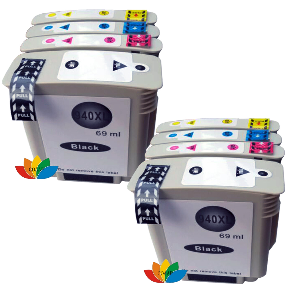 8x Compatible C4906AA Ink Cartridges for HP 940 940XL Officejet Pro 8000 8500 8500a printer