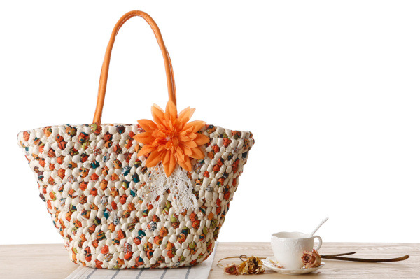 Woven Beach Bags Women Large Straw Handbags Summer Fashion Zipper 17 Bolsa Feminina Flower Ladies Hand Bags Female New Arrival 7