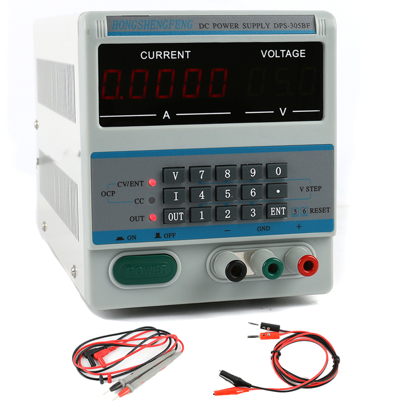 DSP 305BF Adjustable DC Power Supply 30V 5A 0.1V 0.0001A Digital Laboratory Power Supply Phone Repair Kit