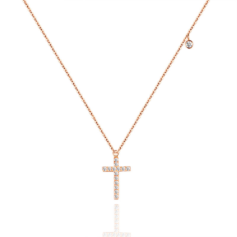 Platinum Diamond Pendant 18K Gold Diamond Necklace Set Rose Gold Gold Pendant Custom Made bk 4371 18k alloy crystal artificial fancy color diamond pendant necklace golden 45cm