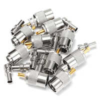 10 X PL259 UHF Connector Male Plug With Reducer for RG8X Coaxial Cable +Tube UHF RG8X connectors