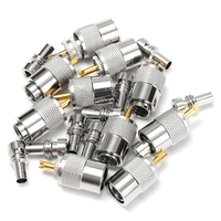 10 X PL259 UHF Connector Male Plug With Reducer For RG8X Coaxial Cable Tube