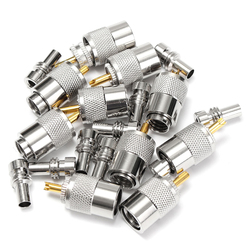 10 X PL259 UHF Connector Male Plug With Reducer for RG8X Coaxial Cable +Tube