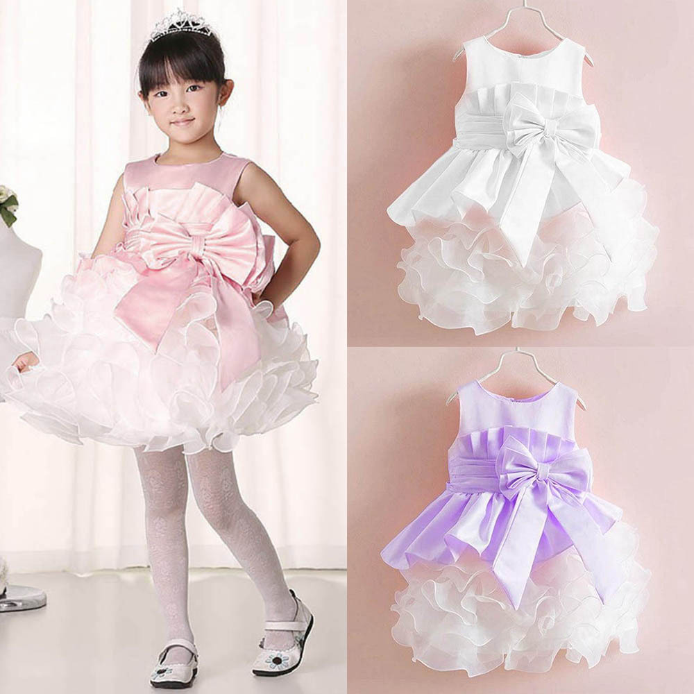 2017 summer Baby clothes Kids girls tutu princess dress children girls show white lace party bow dresses for girls wedding girls dress baby dress girls flowers tutu kids dress for girls summer floral knee length dress for girls clothes 2016 c532q125