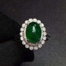 Ювелирные украшения G18k золотые кольца с настоящими бриллиантами 18 K золото натуральный изумруд 2.75ct драгоценные камни женские обручальные кольца для женщин, изысканные серебряные кольца