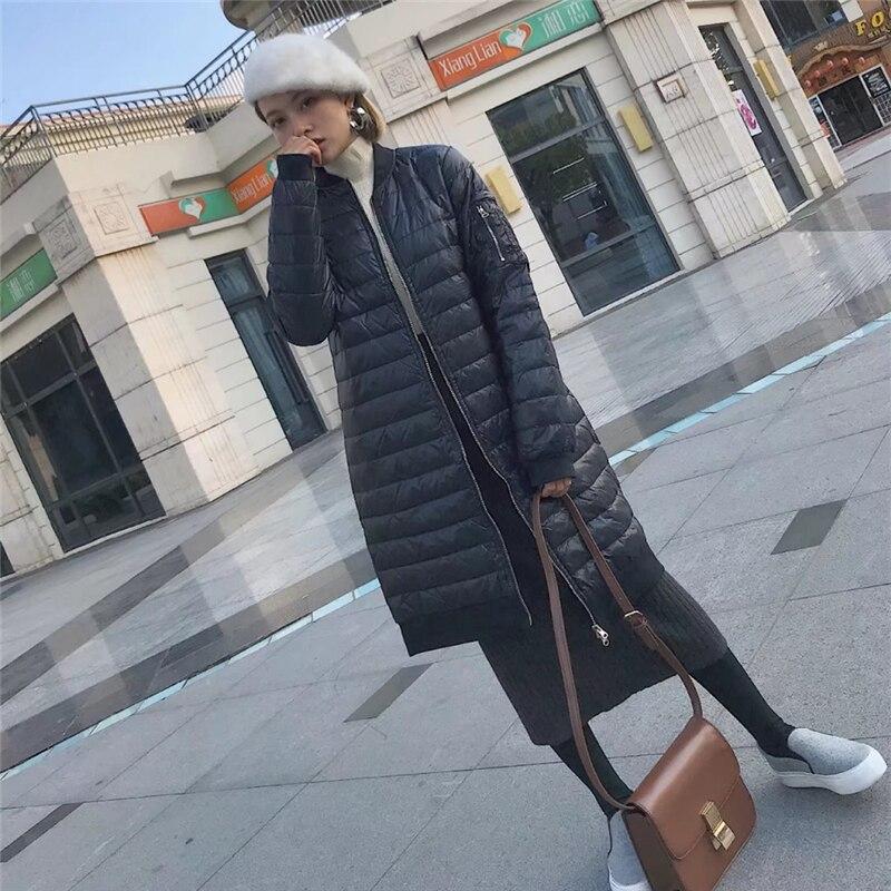 Le Ultra Chaud Base Long Mince Black De À D'hiver Haute Lumière Vers Manteau Qualité Lâche Veste Noir Bas vent Femme 2018 Parkas Coupe EWYHID29