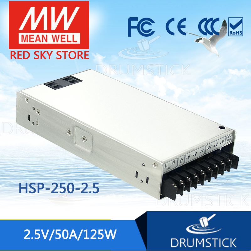 цена на Advantages MEAN WELL HSP-250-2.5 2.5V 50A meanwell HSP-250 2.5V 125W Single Output with PFC Function Power Supply
