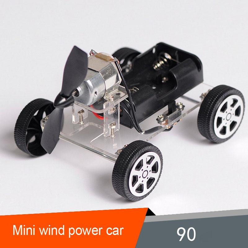DIY mini wind Power small car Science technology make Small ...