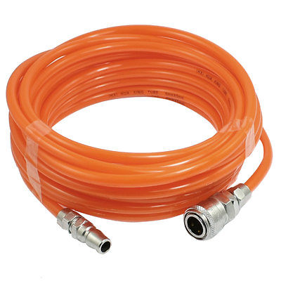 9M/10M/15M Pneumatic Polyurethane Tube Orange PU Hose Pipe 8mm x 5mm w Quick Connector 5pcs hvff 08 pneumatic valve control hvff 8mm tube pipe hose quick connector hand valves plastic pneumatic hose air fitting